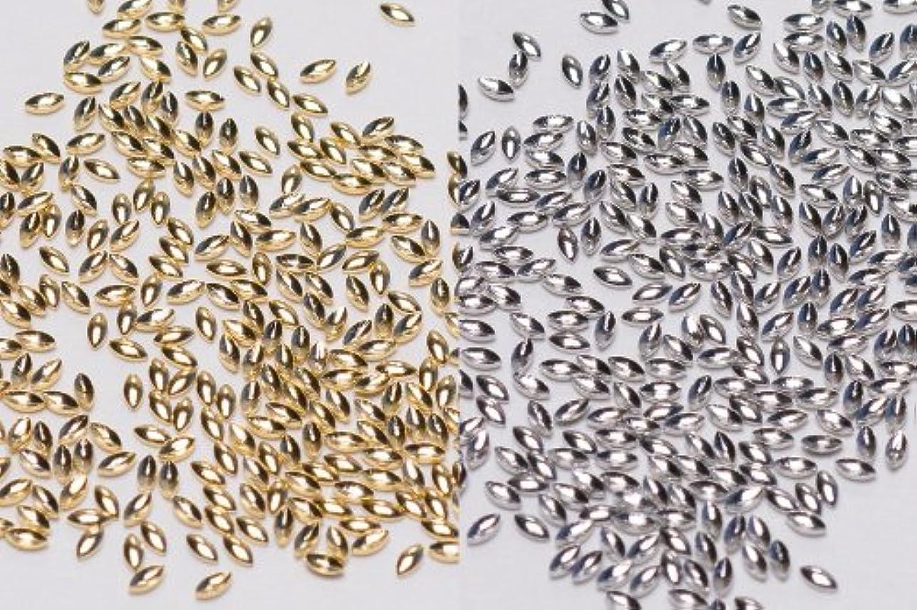 建築感度日食[リトルプリティー]ネイルパーツ Nail Parts LPスタッズリーフ(1X2) 3S 300入 シルバー