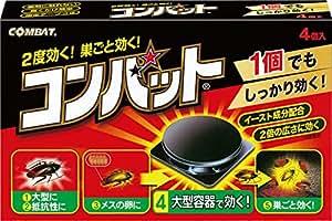 KINCHO コンバット ゴキブリ殺虫剤 大型容器 4個入