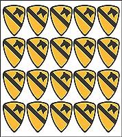 """Army 1st騎兵Divisionパッチ20x 2""""ピールとスティックデカール"""