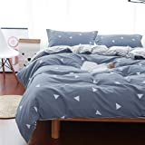 Uozzi Bedding 3 Piece Duvet Cover Set US-Queen, Reversible Printing with Brushed Microfiber, Lightweight Soft, Best New Year