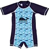Achiyi Baby Boys Toddler One-Piece UPF 50+ Sun Protection Swimsuit Lovely Cartoon Prints Bathing Suit Swimwear