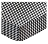 SheetWorld Fitted Pack N Play (Graco Square Playard) Sheet - Black Gingham Check - Best Reviews Guide