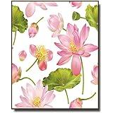 蓮の花のキャンバスポスタープリントリビングルームの壁の装飾アート絵画家の装飾画像-60x90cm / 23.6x35.4 in/フレームなし