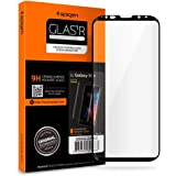 Spigen Galaxy S9 Plus Screen Protector Curved Edge/Tempered Glass/Case Friendly for Samsung Galaxy S9 Plus - Black