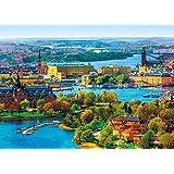 500ピース ジグソーパズル 北欧の輝き ストックホルム旧市街 (38x53cm)