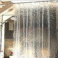 S-ZONE シンプル 防カビ シャワー カーテン 洗面所 ユニットバス バスルーム 浴室 風呂 シャワーカーテン 防水 防カビ 加工 12 カーテンリング 付属 取付簡単! 90×180cm