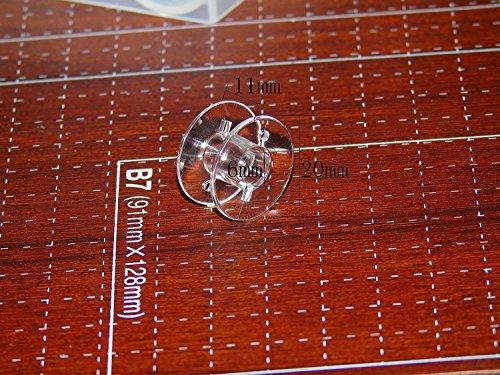 Ceeyali 36個 セット 家庭用ミシン用 ボビン(11.5mm) ブラザー、ジャノメ、JUKI、TOYOTA、シンガー共通 (透明)