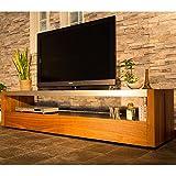 テレビボード 180cm ブラックガラス ウォールナット ウォールナット 色