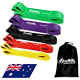 FitRik Skin Friendly Heavy Exercise Resistance Bands Set - 5 Levels Multi-coloured Fitness Workout Bands - Natural Latex Exer