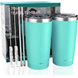 20oz Tumbler with Lid, Umite Chef Stainless Steel Vacuum Insulated Double Wall Travel Tumbler, Durable Insulated Coffee Mug,