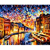 Paint by Numbers-DIY Digital Canvas Oil Painting Adults Kids Paint by Number Kits Home Decorations- Colorful World 16 * 20 inch