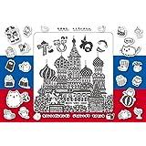 300ピース ジグソーパズル めざせ! パズルの達人 さとうあすか たびねこロシアにいく―聖ワシリイ大聖堂―(26x38cm)