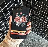 コンバース マリメッコ Petit Prime レトロ ローズ フラワー ヴィンテージ モチーフ ゴールド スタッズ ストライプ ケース ブラック ブラック iPhone6 / iPhone6s 兼用