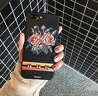 Petit Prime レトロ ローズ フラワー ヴィンテージ モチーフ ゴールド スタッズ ストライプ ケース ブラック ブラック iPhone6 / iPhone6s 兼用
