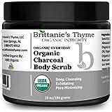 Organic Activated Charcoal Scrub - Acne Treatment, Pore Minimizer, Treats Blackheads & Oily Skin, Reduces Wrinkles