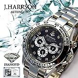 本物 人気ブランド 機械式 時計 天然ダイヤモンド [ ジョンハリソン ] 自動巻 腕時計 メンズ 紳士 誕生日プレゼント 3014DS