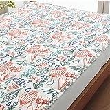 ●シングル 西川リビング ボレリー かわいい 二重ガーゼ敷きパッド(BO3040) 表地/綿100% (ピンク)