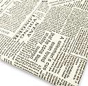 手芸用 英字柄 綿麻 生地 幅150cm×1~5m 生成り ベージュ地 裁縫 刺繍 用 布 コットンリネン ハンドメイド DIY (茶文字 3m)