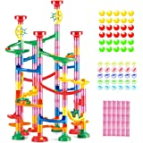 Marble Run Roll - Educational Construction Maze Block. Big Circle and Double Back Pieces for More Hang Time - 169 Pieces. Age