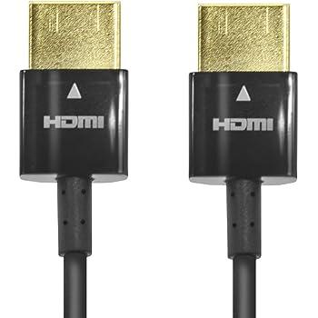 エレコム HDMIケーブル ハイスピード スーパースリム 1.0m イーサネット/4K/3D/オーディオリターン PS3/PS4/Xbox360/ニンテンドークラシックミニ H-HD14SS10BK