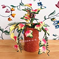 Bobominiworld ハンドメイド 花 ドールハウス ミニチュア 装飾 1:12スケール 高さ6cm