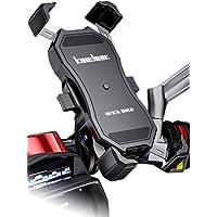 Kaedear(カエディア) バイク スマホホルダー QI ワイヤレス充電 防水 USB 電源 携帯 ホルダー 置くだけ…