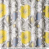 【デザインカーテン】洗える!ディズニー プーさん ボールド 既製サイズ幅100x丈135cm M-1128(イエロー)