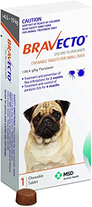 BRAVECTO For Small Dogs 4.5 to 10 Kg Orange Pack 1 Chew