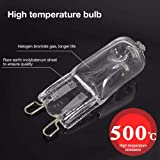 10 Pack 40W Oven Lamp, G9 Halogen Oven lamp Capsule for Oven Light Bulbs Incandescent Bulb for Refrigerators Ovens Fans