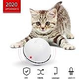 猫おもちゃ 猫じゃらし 光るボール Ledボール 電動 自動回転 USB充電式 ストレス解消 運動不足解消 ホワイト