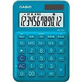 カシオ カラフル電卓 レイクブルー 12桁 ミニジャストタイプ MW-C20C-BU-N