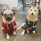 ドックウェア 柴犬 パグ ブルドック パーカー トレーナー (3.FB, グリーン)