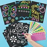 ドットシール アート(1パック)心のこもった素敵な手作りカードや子供達の工作に