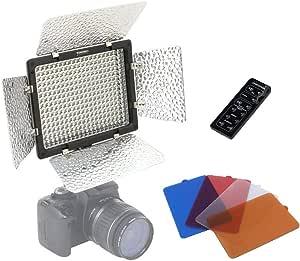 YONGNUO製 YN300-Ⅱ 300球 LED ビデオライト 超高輝度 色温度調整 リモコン付き