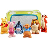 Winnie the Pooh and Pals Bath Toy Set in Zipped Bag - Winnie the Pooh Tigger Eeyore Piglet Owl and Roo