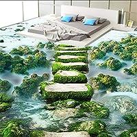 Lixiaoer カスタム3D床壁画壁紙現代寝室キッチン浴室床壁画絵画滑り止め防水写真壁紙-120X100Cm