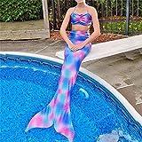 Meily 人魚水着 マーメイドスイムテール 人魚姫に変身 人魚コスチューム 上下セット (140cm)