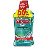 Colgate Plax Mouthwash, Freshmint, 750ml (Pack of 2)