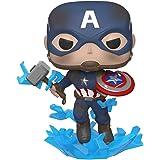 Funko Avengers 4 Captain America with Mjolnir Pop Vinyl Figure, Multicolour