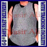 Nasir Ali アルミチェーンメールシャツ 中世アルミニウム ノースリーブ チェーンメールHaubergeon