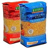 [2袋] リスコ ブルガー小麦 500gアソートセット(中挽き・粗挽き各1袋)