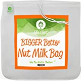 """Pro Quality Nut Milk Bag - XL12""""X12"""" Commercial Grade Reusable All Purpose Food Strainer - Food Grade BPA-Free Ultra Fine Mes"""
