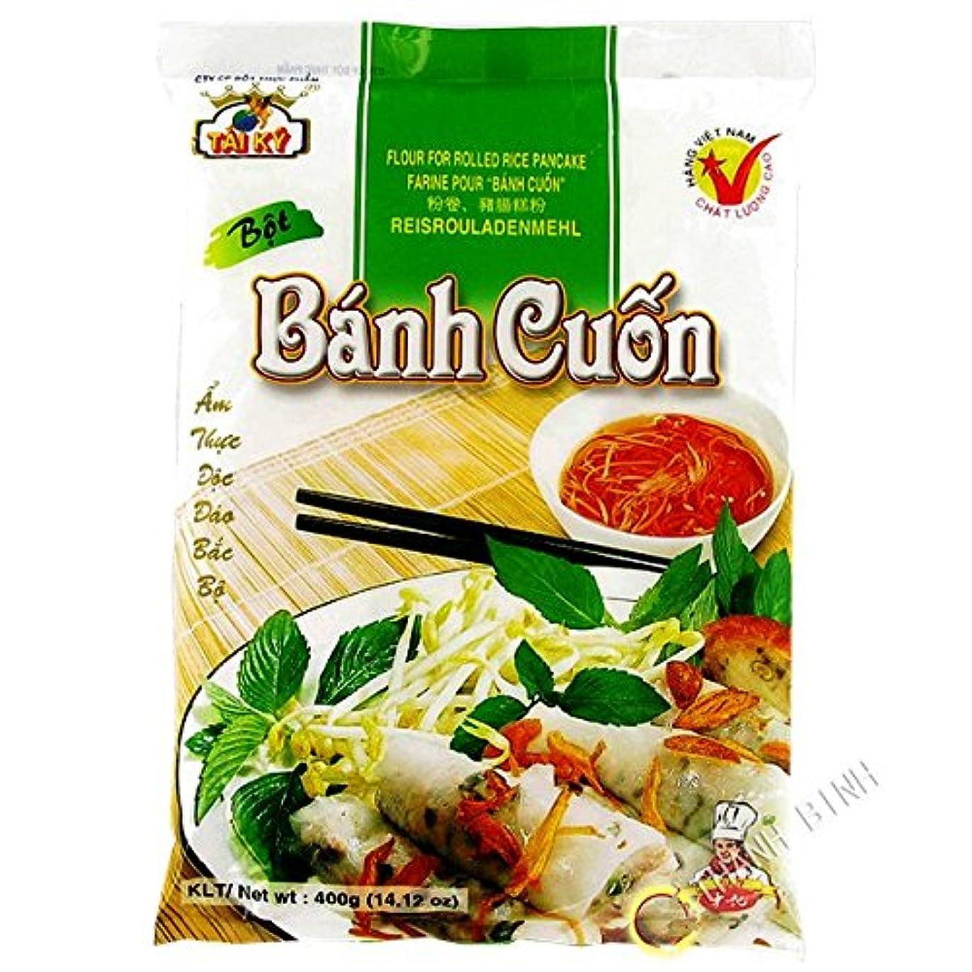 連結する選択する私たちのTAI KY バインクオン粉 400g 1袋 Bot Banh Cuon TAI KY 400g 1tui