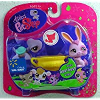 Littlest Pet Shop Exclusive Pet Pairs Figures Turtle and Purple Bunny by Hasbro [並行輸入品]