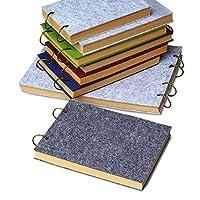 Zhi Jin詰め替え可能a6Feltノートブックジャーナル日記メモ帳Sketchbook空白クラフト紙ギフト旅行 グレイ
