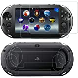 SNNC PlayStation Vita 2000 Screen Protector Anti-Scratch Tempered Glass Film Shield Games Console Joy Con Accessories Case Fo