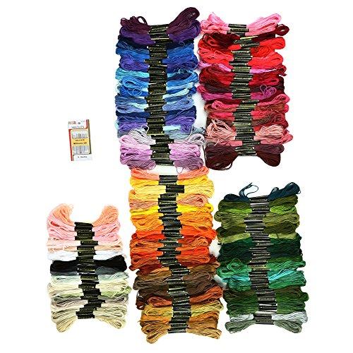 peaces たっぷり150色 刺しゅう糸 セット 色鮮やか 光沢 きれい ミサンガづくりにも最適