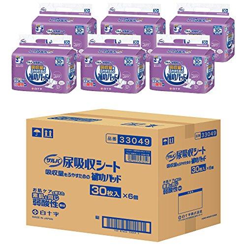サルバ 尿吸収シート男女共用 180枚 30×6パック
