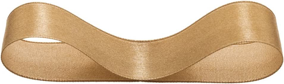 ヘッズ 片面 サテン リボン 19mm幅X20m巻 ゴールド HEADS 1945R