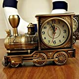 レトロな機関車 置き時計 ブロンズカラー